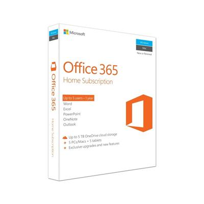 microsoft office 365 home 5pc 1yr mlk  - click for full details or buy