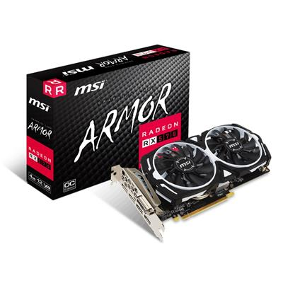 msi msi radeon rx 570 4gb armor 4g oc  - click for full details or buy